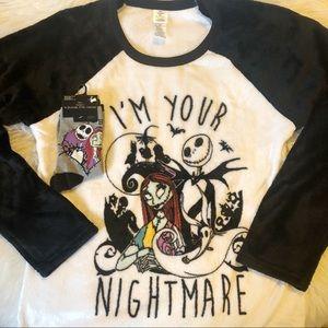 Disney plush sleep shirt & sock set